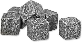 GOURMEO Whisky Steine 9 Stück - aus natürlichen Speckstein -wiederverwendbare Eiswürfel, Whiskysteine, Whisky Stones, Kühlsteine – Einzelnes Set bestehend aus 9 Steinen