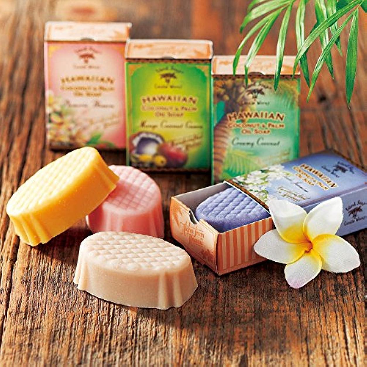 目指す小さな失態ハワイ 土産 アイランドソープ ココナッツソープ 4種セット (海外旅行 ハワイ お土産)