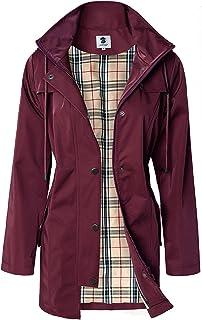 SaphiRose Women's Water-Resistant Raincoat Outdoor Rain Jacket