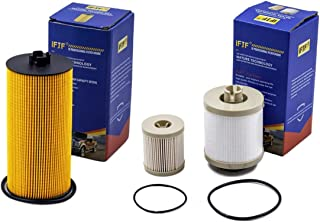 iFJF FD4616 Fuel Filter (for 6.0L) And FL2016 Oil Filter for Ford F250 Super Duty F350 Super Duty F450 Super Duty F550 Super Duty 2003-2007 Ford Excursion 2003-2005