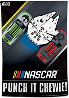 WinCraft NASCAR Star Wars Millennium Falcon Punch It Chewie Vertical Flag 28x40 inches