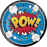 Creative Converting Platos Superhero Slogans Pequeños