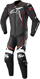 Alpinestars 3150518-1231-54 GP Plus V2 Leather Suit (Black/White/Red Fluo, 44)
