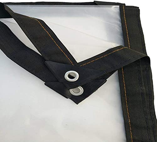 Liul Baches De Prougeection épaissir Transparent Imperméable Bache Couvre-Sol Plastique Transparent Tente Lourds Extérieur,23 Taille,4x1m