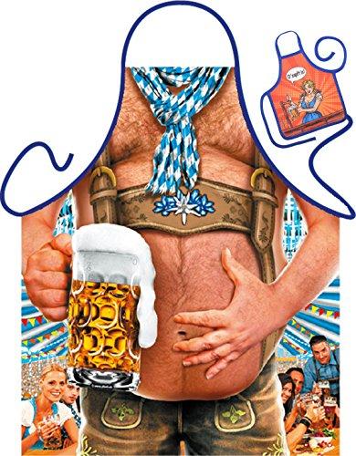 Art & Detail Shirt Bierbauch Tablier humoristique pour fête et mini pour la bouteille