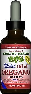 Healthy-Health's Wild Mediterranean Oil of Oregano, Super Strength, ECO Certified Organic Oregano Oil, 86% Carvacrol, 1 fl...