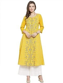 Varanga Women's Cotton Straight Salwar Suit Set