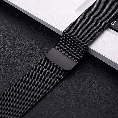 NO BRANDED Magnetic Bracelet Strap For 4 5 40mm 44mm Stainless Steel Band For Watch Band Series 1 2 3 42mm 38mm 11Black