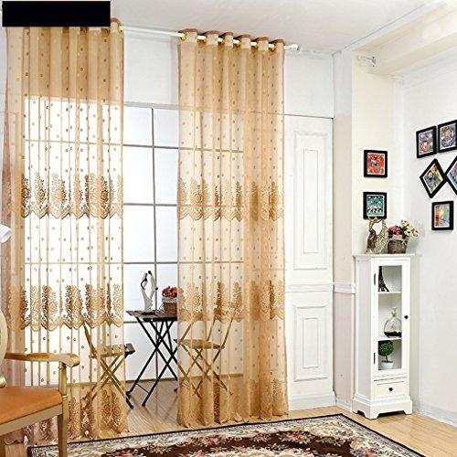Met Love Tissu Art Polyester Warp Tricot Écrans Jacquard de haute qualité Étude Balcon Baie Fenêtre 2 panneaux (taille : L:2.5*H:2.7m)