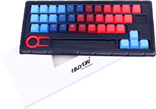 Gradient Color Keycap 37 PBT Double Shot Injection Backlit Keycaps for Cherry/ikbc/NOPPOO/Ducky Mechanical Gaming Keyboard...