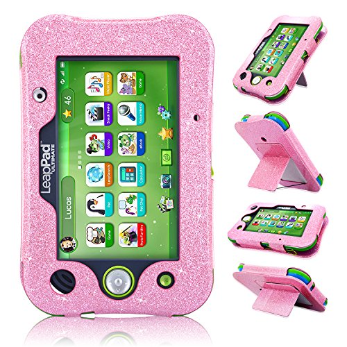 LeapPad Ultimate Case, ACdream Leather Tablet Case for LeapPad ACdream Kids Learning Tablet(2017 Release), (Pink Star of Paris)