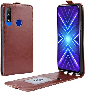 For Honor 9X Crazy Horse Vertical Flip Leather Protective Case New (Black) Lyaoo (Color : Brown)