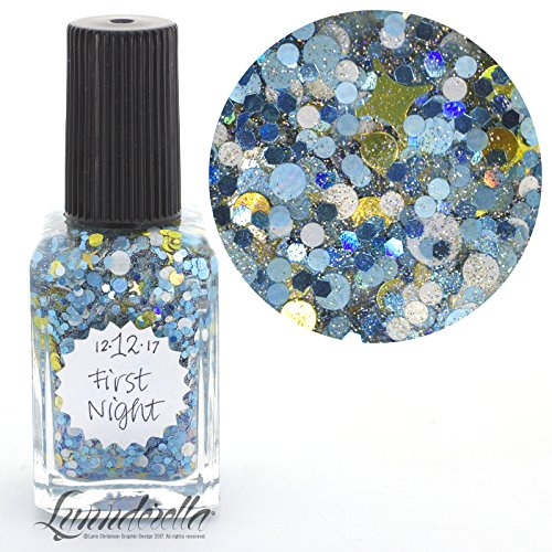 Lynnderella 2017 Advent Nail Polish Multiglitter Topper—December 12-First Night