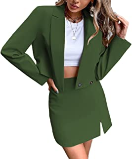Women's Business Casual Blazer Jackets and High Waisted...