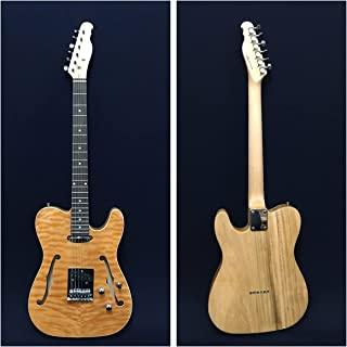 Haze Quilted Natural Semi-Hollow Body Electric Guitar+Free Bag. HSTL 1901 2FH QN