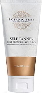 Botanic Tree Self Tanner, Sunless Tanner Organic and Natural, Sunless Tanning Lotion for Body and Face- Self Tan for All Skin Types w/100% Organic Extracts.