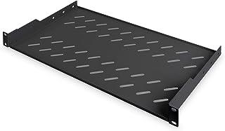 """Digitus Professional Dn-19 Tray-1-Sw - Plank Voor Vaste Installatie In 19"""" Kasten - Draagvermogen 15 Kg - Vanaf 450 Mm Kas..."""
