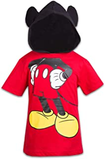 Mickey Mouse Boys Hooded Shirt Mickey and Friends Costume Tee
