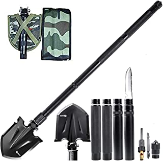 ANTARCTICA Military Folding Shovel Multitool Compact Backpacking Tactical Entrenching Tool for Hunting, Camping, Hiking, Fishing