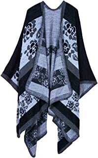 Women Shawl Wrap Open Front Poncho Cape Cardigan Shawl Wrap Autumn Winter