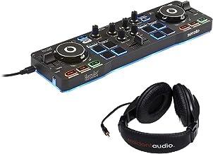 Hercules DJControl Starlight with LED Light & Resident Audio R100 Stereo Headphones Bundle