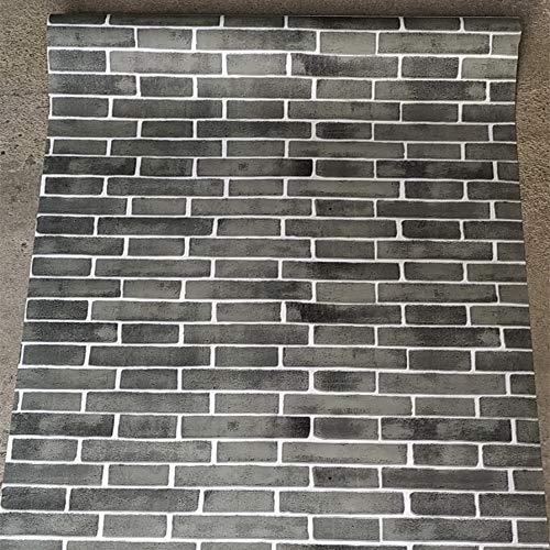 LZYMLG 3D Selbstklebende Wandaufkleber Dekor Wasserdichte Tapete Für Kinderzimmer Küche Schlafzimmer 3D Backstein Tapete grau