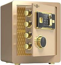 LLRYN Digital Security Safe Box,Fingerprint Biometric Wall Safe Lock Box Cash Strongbox Wall-in Style with Number Keys Eme...