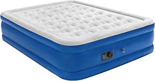 """Coindivi Queen Air Mattress with Built-in Pump,Double High Elevated Raised Airbed Blow up Mattress, Upgraded 1.0 mm Thickness Leak Proof Inflatable Mattress for Home Camping Travel, 80×60×19 """""""