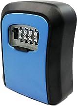 Eastdall Caixa De De 4 Dígitos,Caixa de com chave para montagem na parede Liga de alumínio de 4 dígitos Combinação à prova...