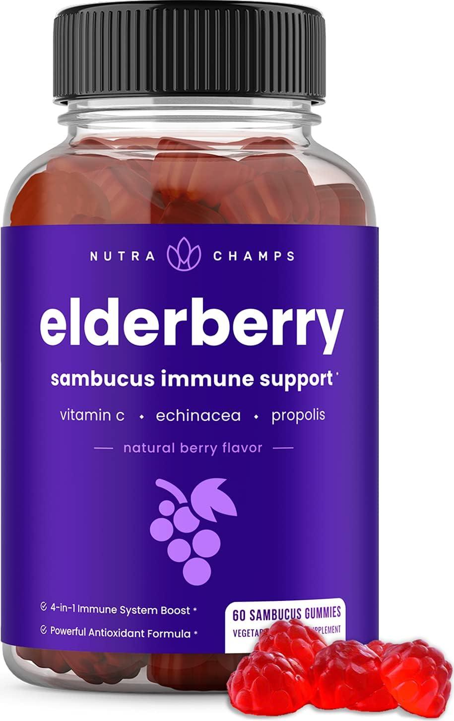 Elderberry Gummies with Vitamin Max 61% OFF C Echinacea Propolis 1 year warranty Immune -
