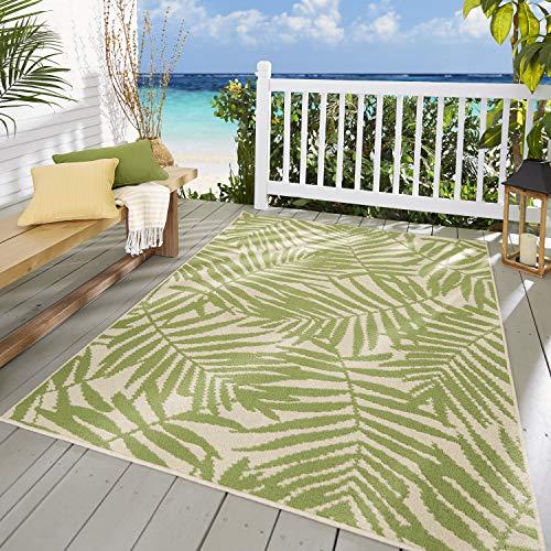 Mainstays Palm Indoor Outdoor Rectangular Area Rugs, 5ft. x 7ft.
