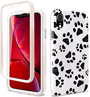 GOLINK Full Body Shockproof Protective Case with Built-in Screen Protector for 6.1 inch iPhone XR(Paws)