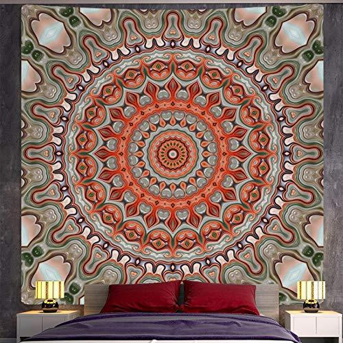 QAWD Tapiz de Mandala Indio Tapiz de brujería Estilo Boho Hippie psicodélico Escena Fondo Tela Manta Tela Colgante A7 73x95cm