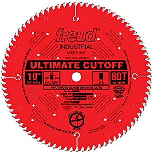 wholesale Freud new arrival 10 In. 80 Tooth Ultimate Cut-Off Saw Blade outlet sale w/5/8 In. Arbor LU85R010 sale