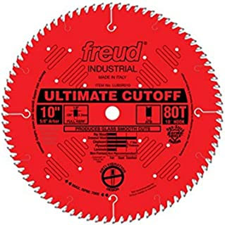 Freud 10 In. 80 Tooth Ultimate Cut-Off Saw Blade with 5/8 In. Arbor (LU85R010)