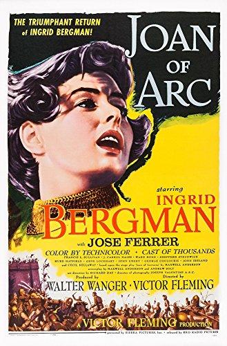 Posterazzi EVCMCDJOOFEC038HLARGE Joan of Arc Us Art Ingrid Bergman 1948 Movie Poster Masterprint, 24 x 36 -  Everett Collection