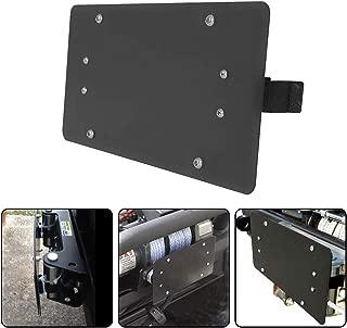 RUGCEL Black License Plate Bracket Roller Fairlead Mounting Holder