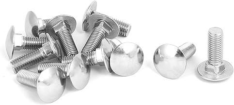 10x M8x45 10 x Boulons M8 x 45 t/ête ronde collet carr/é Vis TRCC avec /Écrou et Rondelle Longueurs 20-200mm choix
