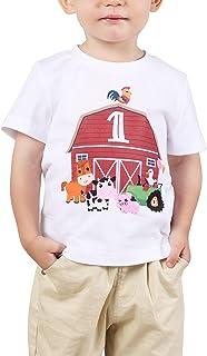 1 Año Camiseta Cumpleaños Bebé Niño 1er Cumpleaños Manga Corta Regalo