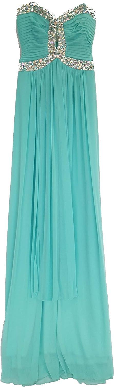 Bee Darlin Strapless Dress with Rhinestones, Green, 9/10