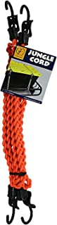 Tribe One Jungle Cord (Black) – Adjustable Braided Bungee Shock Cord – Includes Two 4-Foot Lengths of Jungle Cord and Four PackTachs – Traditional Termination Hooks