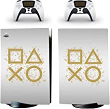 Whole Body Protective Vinyl Skin Decal Cover for Sony PS5 Playstation 5 Console Wrap Sticker Skins with Two Free Wireless ...
