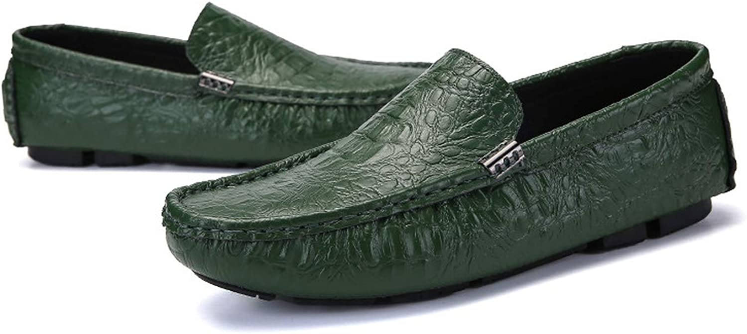 HANBINGPO Mens Loafers Crocodile shoes Leather Luxury Dress Casual Driving shoes