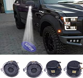 Car Side mirror puddle lights projector ghost shadow puddle logo light compatible for Ford F150 FX4 SVT Raptor 2009-2014year with Raptor projection logo for ford raptor f150 puddle lights