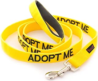 ADOPT ME Yellow Color Coded 2 4 6 Foot Padded Handle Dog Leash (New Home Needed) Donate To Your Local Charity