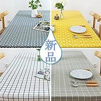 TUTUJI テーブルクロス コンプリート クロスシリーズ おしゃれなテーブル シンプルなデザイン! CANVAS 60*60cm~130*400cm オーダーメイドサイズ (80*120cm, #4)