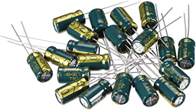 uxcell Aluminum Radial Electrolytic Capacitor Low ESR Green with 100uF 35V 105 Celsius Life 3000H 6.3 x 11 mm High Ripple Current,Low Impedance 20pcs