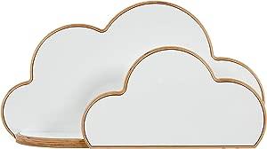 White Wood Cloud Shaped Shelf  Childrens Kids Bedroom Furniture  Nursery Furniture