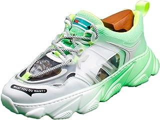 Fashion Men's Sports Shoes Breathable Casual Shoes Wear-Resistant Non-Slip Low Top Shoes Breathable Travel Men's Shoes Lightweight,Green,42EU