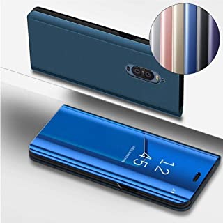 ISADERSER Mate 9 Pro Case Huawei Mate 9 Pro Case Stand Luxury View Book Style Flip Plating Mirror Makeup Glitter Slim Shockproof Full Body Protective Case Cover for Huawei Mate 9 Pro